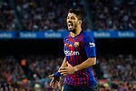 Luis Suarez of FC Barcelona gestures during the La Liga match between Barcelona and Real Sociedad at Camp Nou on May 20, 2018 in Barcelona, Spain. Photo by Vicens Gimenez / Power Sport Images