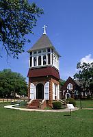 Old Bell Tower and Episcopal Church of the Redeemer, Biloxi, Mississippi, USA