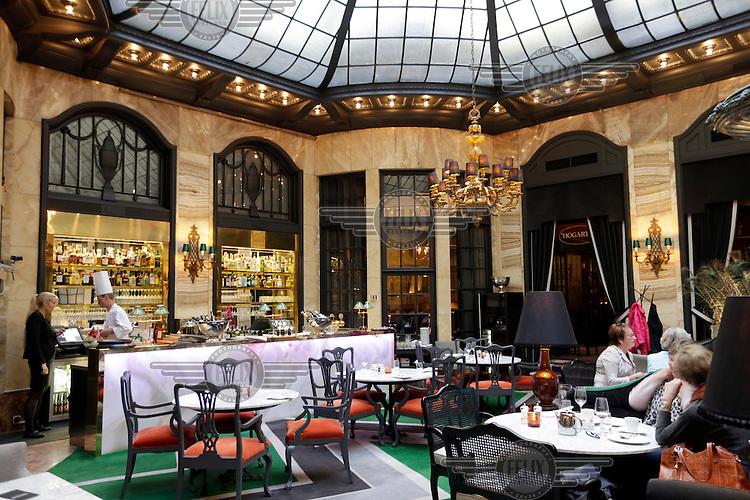 A bar at Grand Hotel Oslo, Norway.