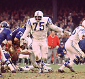 Baltimore Colts John Williams (53) during a game agains the New York Giants on November 3,1968 at Yankee Stadium in the Bronx, New York.  The  Baltimore Colts beat the New York Giants 26-0.  John Williams played for 12 years, with 2 different teams.(SportPics)