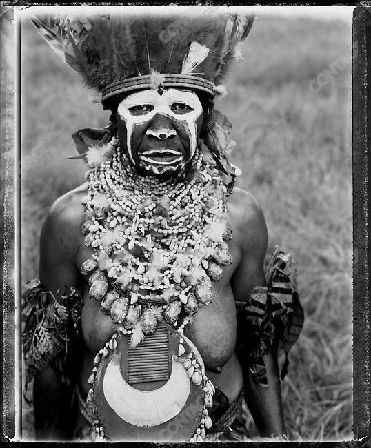 Member of the Andakapala village, from Mount Hagen at the annual 'Sing-Sing' festival, Mount Hagen, Papua New Guinea, August 2004.