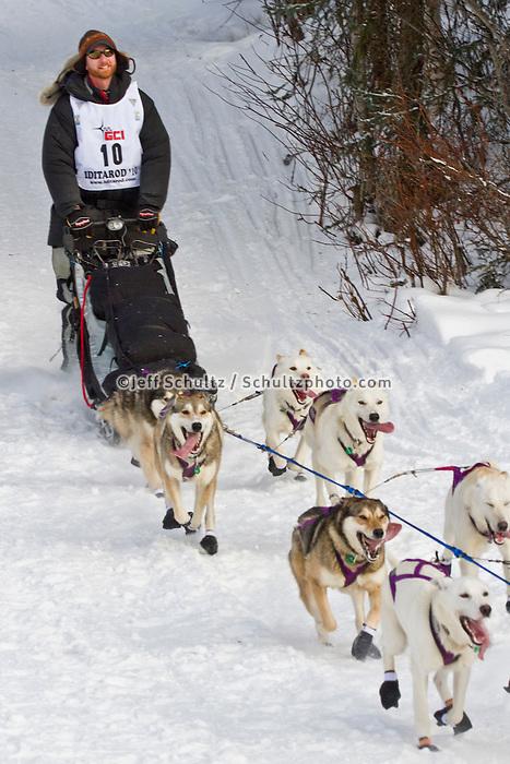 2010 Iditarod Re-start in Willow Alaska musher # 10 JUSTIN SAVIDIS