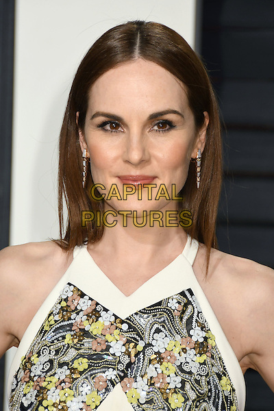 26 February 2017 - Beverly Hills, California - Michelle Dockery. 2017 Vanity Fair Oscar Party held at the Wallis Annenberg Center. <br /> CAP/ADM/BP<br /> &copy;BP/ADM/Capital Pictures