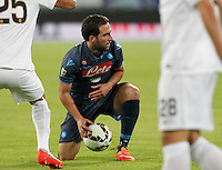 Gonzalo Higuain during the Italian Serie A soccer match between SSC Napoli and Verona  at San Paolo stadium in Naples, October 26, 2014