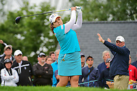 Inbee Park (KOR) watches her tee shot on 1 during Friday's second round of the 72nd U.S. Women's Open Championship, at Trump National Golf Club, Bedminster, New Jersey. 7/14/2017.<br /> Picture: Golffile | Ken Murray<br /> <br /> <br /> All photo usage must carry mandatory copyright credit (&copy; Golffile | Ken Murray)