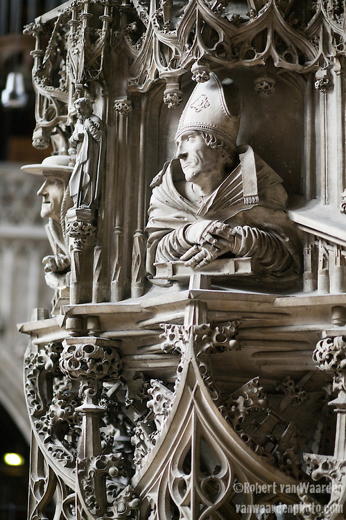 A statue in the interior of St. Stephen's, a Gothic Cathedral on Stephansplatz in Vienna, Austria and is the mother church of the Roman Catholic Archdiocese of Vienna.