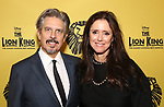 Elliot Goldenthal and Julie Taymor attends the 20th Anniversary Performance of 'The Lion King' on Broadway at The Minskoff Theatre on November e, 2017 in New York City.