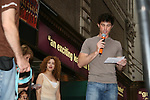 "As The World Turns' Matt Cavanaugh stars in Westside Story and is on stage with Bernadette Peters at Broadway Barks 11 - a ""Pawpular"" star-studded dog and cat adopt-a-thon on July 11, 2009 in Shubert Alley, New York City, NY. (Photo by Sue Coflin/Max Photos)"