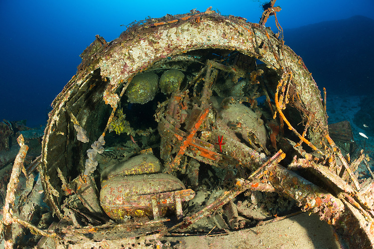 "The wreck of the B24J Liberator ""Tulsamerican"", Vis, Croatia, which lies between 40 and 55 metres. This aircraft was celebrated in WW2"