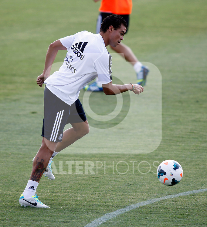Pepe during Real Madrid´s first training session of 2013-14 seson. July 15, 2013. (ALTERPHOTOS/Victor Blanco)