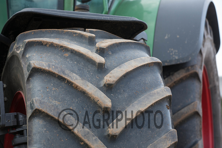 Tyres on Fendt tractor<br /> Picture Tim Scrivener 07850 303986
