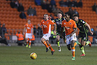Blackpool's Sessi D'Almeida gets away from Bristol Rovers' Ryan Sweeney<br /> <br /> Photographer Stephen White/CameraSport<br /> <br /> The EFL Sky Bet League One - Blackpool v Bristol Rovers - Saturday 13th January 2018 - Bloomfield Road - Blackpool<br /> <br /> World Copyright &copy; 2018 CameraSport. All rights reserved. 43 Linden Ave. Countesthorpe. Leicester. England. LE8 5PG - Tel: +44 (0) 116 277 4147 - admin@camerasport.com - www.camerasport.com