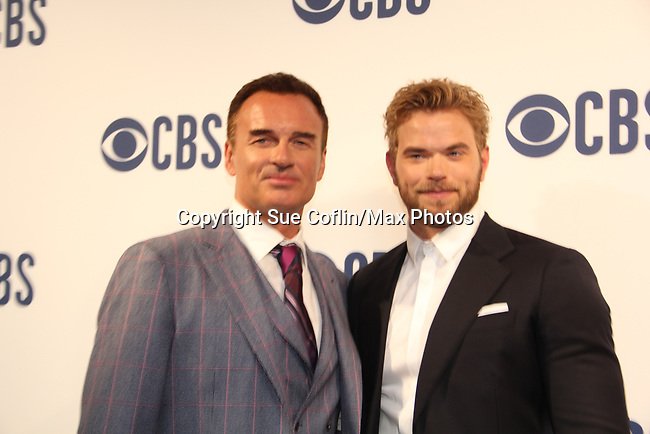 """Julian McMahon """"Ian Rain"""" - Another World with costar Kellan Lutz and now on CBS FBI Most Wanted and earlier on Profiler, Charmed - CBS Upfront 2019 held in New York City at the Todd English Food Hall on May 15, 2019 with new fall shows  - FBI: Most Wanted. (Photo by Sue Coflin/Max Photos)"""