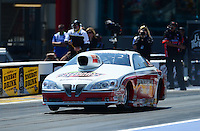 Apr. 13, 2012; Concord, NC, USA: NHRA pro stock driver Mike Edwards during qualifying for the Four Wide Nationals at zMax Dragway. Mandatory Credit: Mark J. Rebilas-