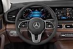 Car pictures of steering wheel view of a 2020 Mercedes Benz GLE 350-d-4MATIC 5 Door SUV Steering Wheel