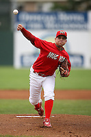 June 21, 2009:  Pitcher Michael Blazek of the Batavia Muckdogs delivers a pitch during a game at Dwyer Stadium in Batavia, NY.  The Muckdogs are the NY-Penn League Short-Season Class-A affiliate of the St. Louis Cardinals.  Photo by:  Mike Janes/Four Seam Images
