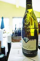 bottle with moulded relief on the neck wine shop eclat du prince le cellier des princes chateauneuf du pape rhone france