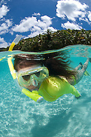 Alexa Putnam snorkeling Little Cinnamon Bay.Virgin Islands National Park.St John, USVI