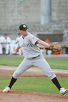 Vancouver Canadians pitcher Matt Thompson on the mound during a game  vs. the Tri-City Dust Devils at Gesa Stadium in Pasco, Washington, on August 15, 2010 Photo By Robert Gurganus/Four Seam Images