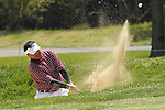 JEJU, SOUTH KOREA - APRIL 25:  Mardan Mamat of Singapore plays a bunker shot on the 13th hole during the Round Three of the Ballantine's Championship at Pinx Golf Club on April 25, 2010 in Jeju, South Korea. Photo by Victor Fraile / The Power of Sport Images