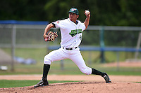 Jamestown Jammers pitcher Andy Otamendi (48) delivers a pitch during a game against the Mahoning Valley Scrappers on June 16, 2014 at Russell Diethrick Park in Jamestown, New York.  Mahoning Valley defeated Jamestown 2-1.  (Mike Janes/Four Seam Images)
