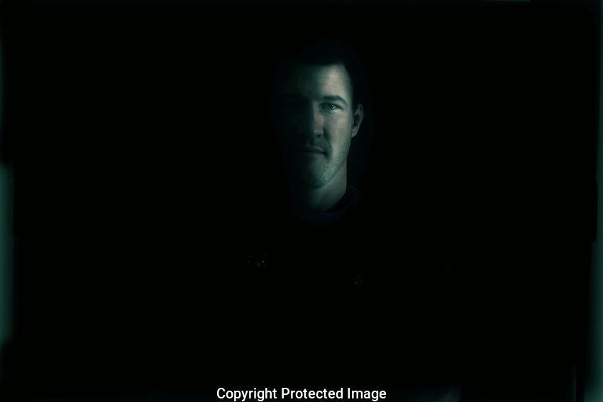 State of Origin... Blues  team portraits at Crown Plaza Hotel Coogee. Captain Paul Gallen. .Photo: Steve Christo