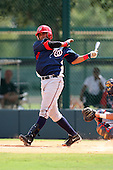 October 6, 2009:  Jesus Morales of the Washington Nationals organization during an Instructional League game at Disney's Wide World of Sports in Orlando, FL.  Photo by:  Mike Janes/Four Seam Images
