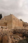 Israel, Jerusalem Archaeological Park, the southwestern corner of the Temple Mount<br />