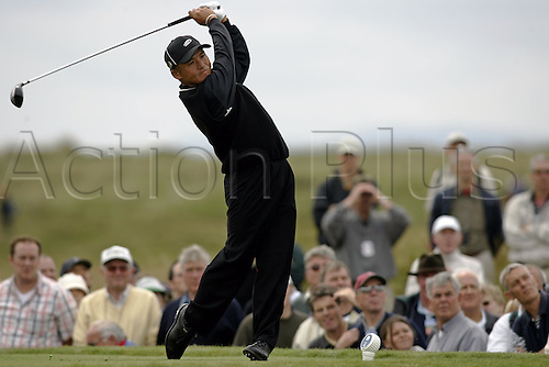 15 July 2004: SHIGEKI MARUYAMA (JPN) tees off from the 15th Tee during the first round of The Open Championship played at Royal Troon, Scotland. Photo: Glyn Kirk/Action Plus...golf drive driver drives  040715
