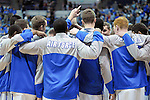 February 28, 2015 - Colorado Springs, Colorado, U.S. -  Air Force players prior to an NCAA basketball game between the Utah State Aggies and the Air Force Academy Falcons at Clune Arena, U.S. Air Force Academy, Colorado Springs, Colorado.   Utah State defeats Air Force 74-60.