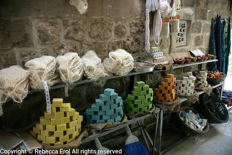 Soaps in a Mardin backstreet, southeastern Turkey
