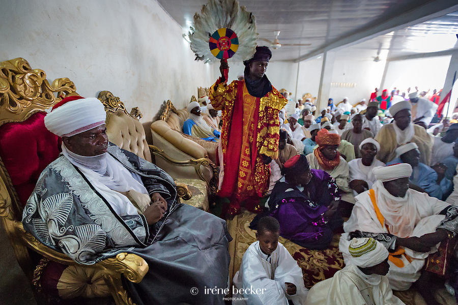 HRH Alh. Samaila Muhammed Mera (CON), Emir of Argungu, Watched the dance by his slaves (Bayi)