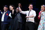 Danny Burstein, Maggie Gyllenhaal, Whoopi Goldberg, Matthew Morrison, Victoria Clark during the Curtain Call for the Roundabout Theatre Company presents a One-Night Benefit Concert Reading of 'Damn Yankees' at the Stephen Sondheim Theatre on December 11, 2017 in New York City.