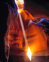 Light Ray Entering Antelope Canyon, Antelope Canyon Tribal Park, Arizona