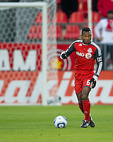 16 April 2011: Toronto FC midfielder Julian de Guzman #6 in action during an MLS game between D.C. United and the Toronto FC at BMO Field in Toronto, Ontario Canada..D.C. United won 3-0.