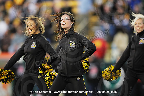 September 25, 2009; Hamilton, ON, CAN; Hamilton Tiger-Cats cheerleaders. CFL football: Montreal Alouettes vs. Hamilton Tiger-Cats at Ivor Wynne Stadium. The Alouettes defeated the Tiger-Cats 42-8. Mandatory Credit: Ron Scheffler. Copyright (c) 2009 Ron Scheffler.