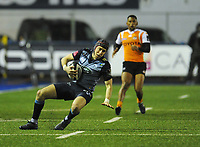 Cardiff Blues&rsquo; Rhun Williams<br /> <br /> Photographer Kevin Barnes/CameraSport<br /> <br /> Guinness Pro14  Round 14 - Cardiff Blues v Toyota Cheetahs - Saturday 10th February 2018 - Cardiff Arms Park - Cardiff<br /> <br /> World Copyright &copy; 2018 CameraSport. All rights reserved. 43 Linden Ave. Countesthorpe. Leicester. England. LE8 5PG - Tel: +44 (0) 116 277 4147 - admin@camerasport.com - www.camerasport.com