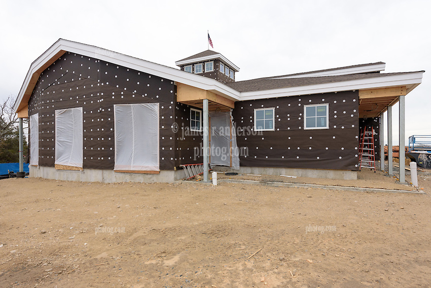 Meigs Point Nature Center at Hammonasset Beach State Park  <br /> Connecticut State Project No: BI-T-601<br /> Architect: Northeast Collaborative Architects  Contractor: Secondino & Son<br /> James R Anderson Photography New Haven CT photog.com<br /> Date of Photograph: 21 December 2015<br /> Camera View: 04