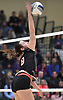 Catherine McClure #8 of East Rockaway attempts to spike against Mattituck during the girls volleyball Class C Long Island Championship at Farmingdale State College on Sunday, Nov. 11, 2018.