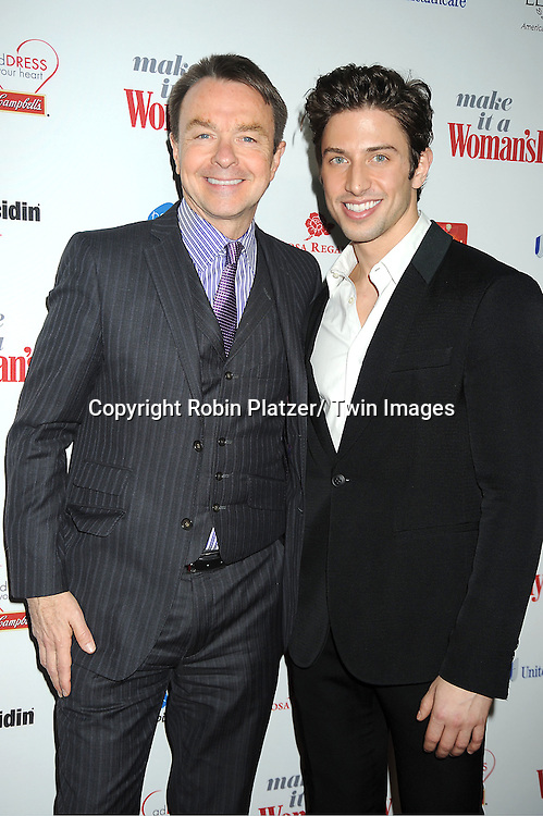 Michael Clinton and Nick Adams attends Woman's Day Red Dress Awards on February 15, 2012 at Jazz at Lincoln Center in New York City. Dr Oz, Star Jones and US Surgeon General Dr Regina Benjamin were honored.