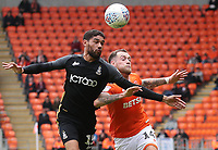 Blackpool's Harry Pritchard and Bradford City's Kelvin Mellor<br /> <br /> Photographer Rachel Holborn/CameraSport<br /> <br /> The EFL Sky Bet League One - Blackpool v Bradford City - Saturday September 8th 2018 - Bloomfield Road - Blackpool<br /> <br /> World Copyright &copy; 2018 CameraSport. All rights reserved. 43 Linden Ave. Countesthorpe. Leicester. England. LE8 5PG - Tel: +44 (0) 116 277 4147 - admin@camerasport.com - www.camerasport.com