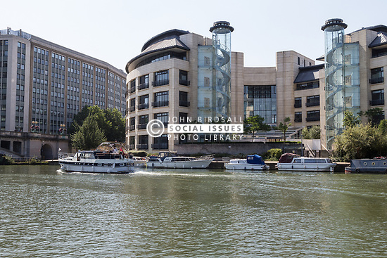 New developments along the River Thames in Reading, Berkshire UK 2014