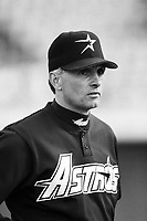 Houston Astros Manager Terry Collins at Dodger Stadium in Los Angeles,California during the 1996 season. (Larry Goren/Four Seam Images)