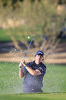 Phil Mickelson (USA) in the 15th green side bunker during the 1st round of the Waste Management Phoenix Open, TPC Scottsdale, Scottsdale, Arisona, USA. 31/01/2019.<br /> Picture Fran Caffrey / Golffile.ie<br /> <br /> All photo usage must carry mandatory copyright credit (© Golffile | Fran Caffrey)