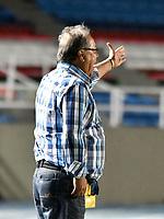 CALI - COLOMBIA – 22 - 09 - 2017: Nestor Otero, tecnico de Cortulua, durante partido entre Cortulua y Jaguares F.C., por la fecha 13 de la Liga Aguila II 2017 jugado en el estadio Pascual Guerrero de la ciudad de Cali. / Nestor Otero, coach of Cortulua, during a match Cortulua and Jaguares F.C., for the date 13th of the Liga Aguila II 2017 played at the Pascual Guerrero stadium in Cali city. Photo: VizzorImage / Luis Ramirez / Staff.