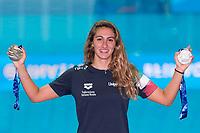 Simona Quadarella Italy <br /> Gold Medal Women's 1500m Freestyle <br /> Silver Medal Women's 800m Freestyle <br /> Gwangju South Korea 28/07/2019<br /> Swimming <br /> 18th FINA World Aquatics Championships<br /> Nambu University Aquatics Center <br /> Photo © Andrea Staccioli / Deepbluemedia / Insidefoto