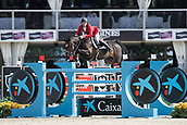 28th September 2017, Real Club de Polo de Barcelona, Barcelona, Spain; Longines FEI Nations Cup, Jumping Final; Niels BRUYNSEELS (BEL) riding Gas de Liberte  during the first round of the Nations Cup