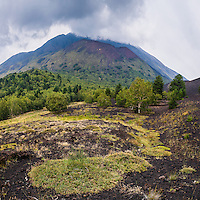 Mount Etna Volcano, old lava flow from an eruption, Sicily, UNESCO World Heritage Site, Italy, Europe. This is a photo of Mount Etna Volcano and an old lava flow from an eruption, Sicily, UNESCO World Heritage Site, Italy, Europe.