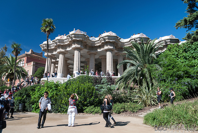 Gaudi's Parc Guell in Barcelona, Spain.<br /> <br /> WARNING: Image Protected with PIXSY