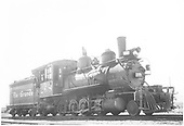 3/4 engineer's-side view of D&amp;RGW #268 at Gunnison.<br /> D&amp;RGW  Gunnison, CO  5/1/1947